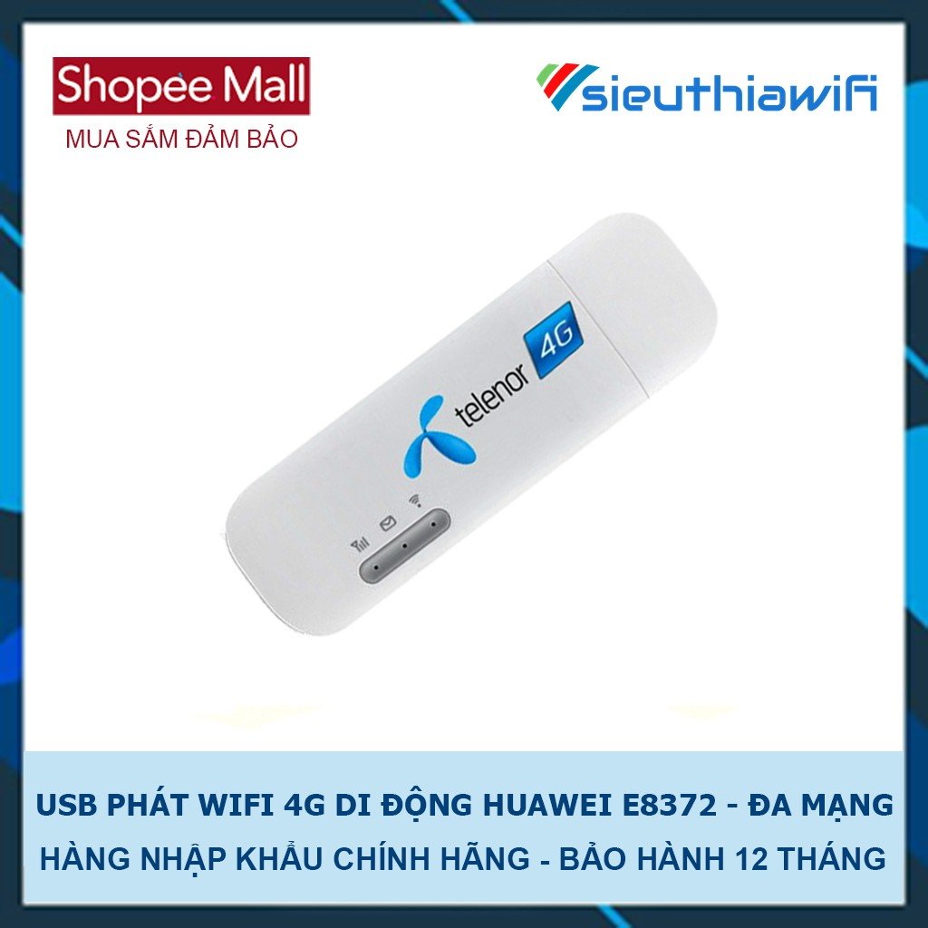 USB PHÁT WIFI 4G DI ĐỘNG HUAWEI E 8372 - ĐA MẠNG - 2719501 , 1066722774 , 322_1066722774 , 900000 , USB-PHAT-WIFI-4G-DI-DONG-HUAWEI-E-8372-DA-MANG-322_1066722774 , shopee.vn , USB PHÁT WIFI 4G DI ĐỘNG HUAWEI E 8372 - ĐA MẠNG