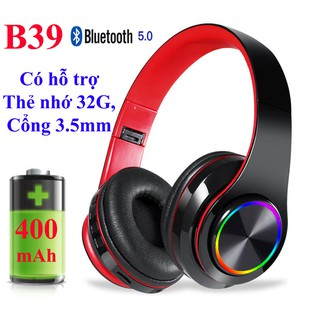 [Mã ELFLASH5 giảm 20K đơn 50K] Tai nghe Bluetooth 5.0 B39 - Tai Nghe chụp tai ( Tặng Jack 3.5mm)