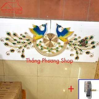 Đồng Hồ Trang Trí Chim Công Uyên Ương TP-078 ( Tặng Máy Đồng Hồ Thay Thế)