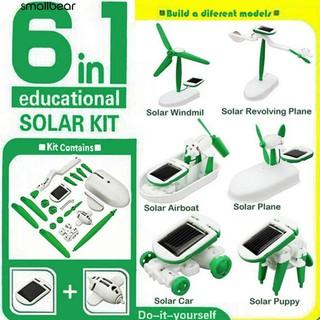 💮🐬6 in 1 DIY Education Learning Solar Power Robot Kit Toys Gift