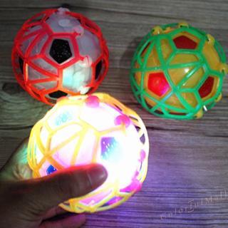 LED Light Jumping Ball Kids Crazy Music Football Children's Funny Toy