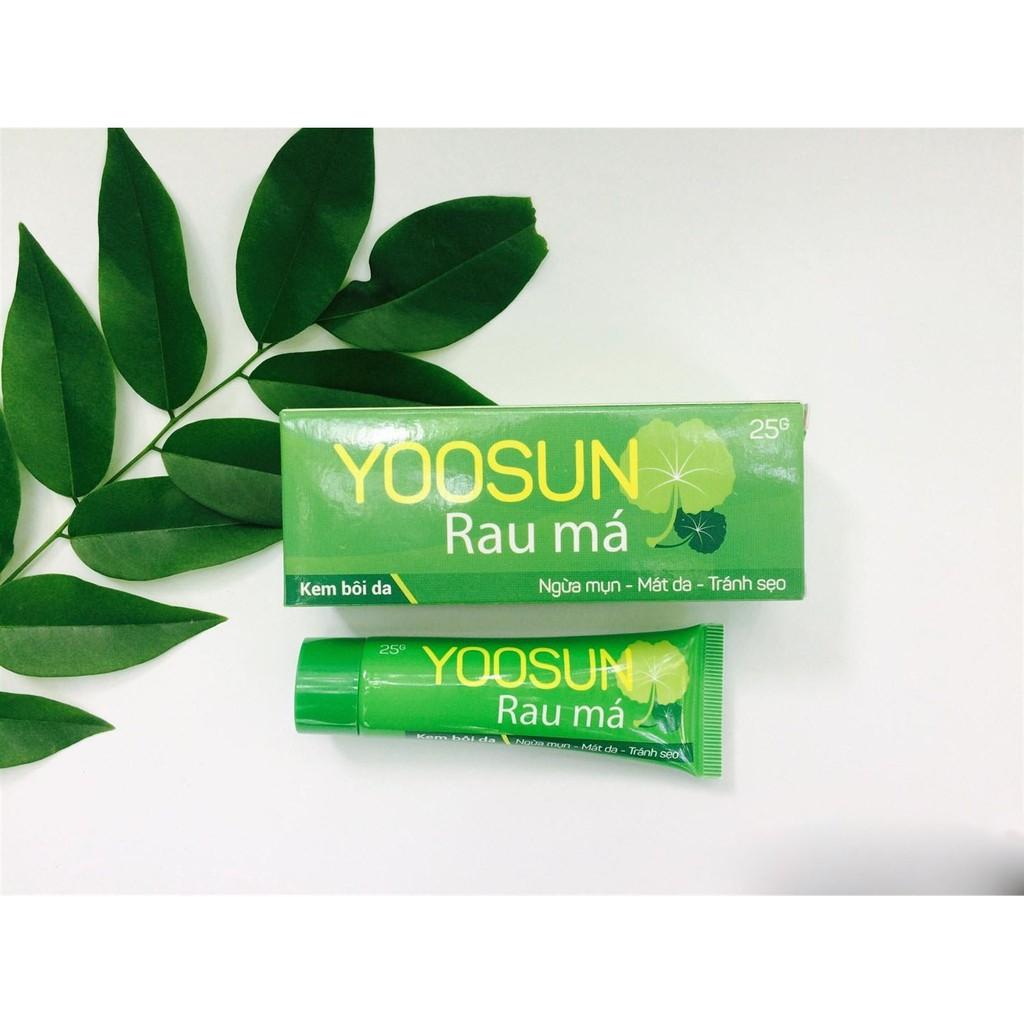 Kết quả hình ảnh cho yoosun rau má có trị mụn không