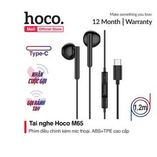 Tai Nghe Dây Hoco M65 Chân Type C tích hợp microphone ngay trên phím điều hướng