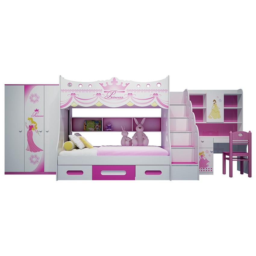 Bộ phòng ngủ giường tầng trẻ em hình công chúa - 23002347 , 1140883163 , 322_1140883163 , 27680000 , Bo-phong-ngu-giuong-tang-tre-em-hinh-cong-chua-322_1140883163 , shopee.vn , Bộ phòng ngủ giường tầng trẻ em hình công chúa