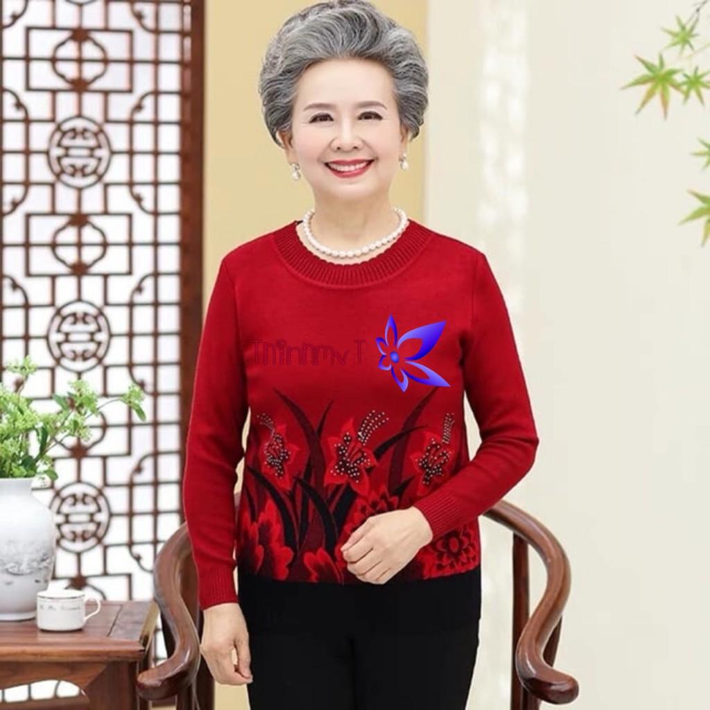 Áo len trung niên in hoa siêu sang chất đẹp màu đỏ đô - 14426612 , 1603868961 , 322_1603868961 , 200000 , Ao-len-trung-nien-in-hoa-sieu-sang-chat-dep-mau-do-do-322_1603868961 , shopee.vn , Áo len trung niên in hoa siêu sang chất đẹp màu đỏ đô
