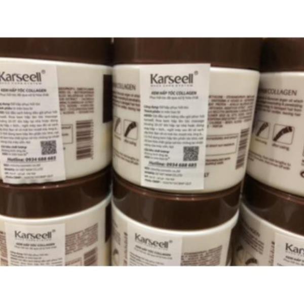 Ủ tóc hấp phục hồi tóc kem hấp hấp tóc COLAGEN KARSEELL túi 500ml – hũ 500ml hàng chính hãng