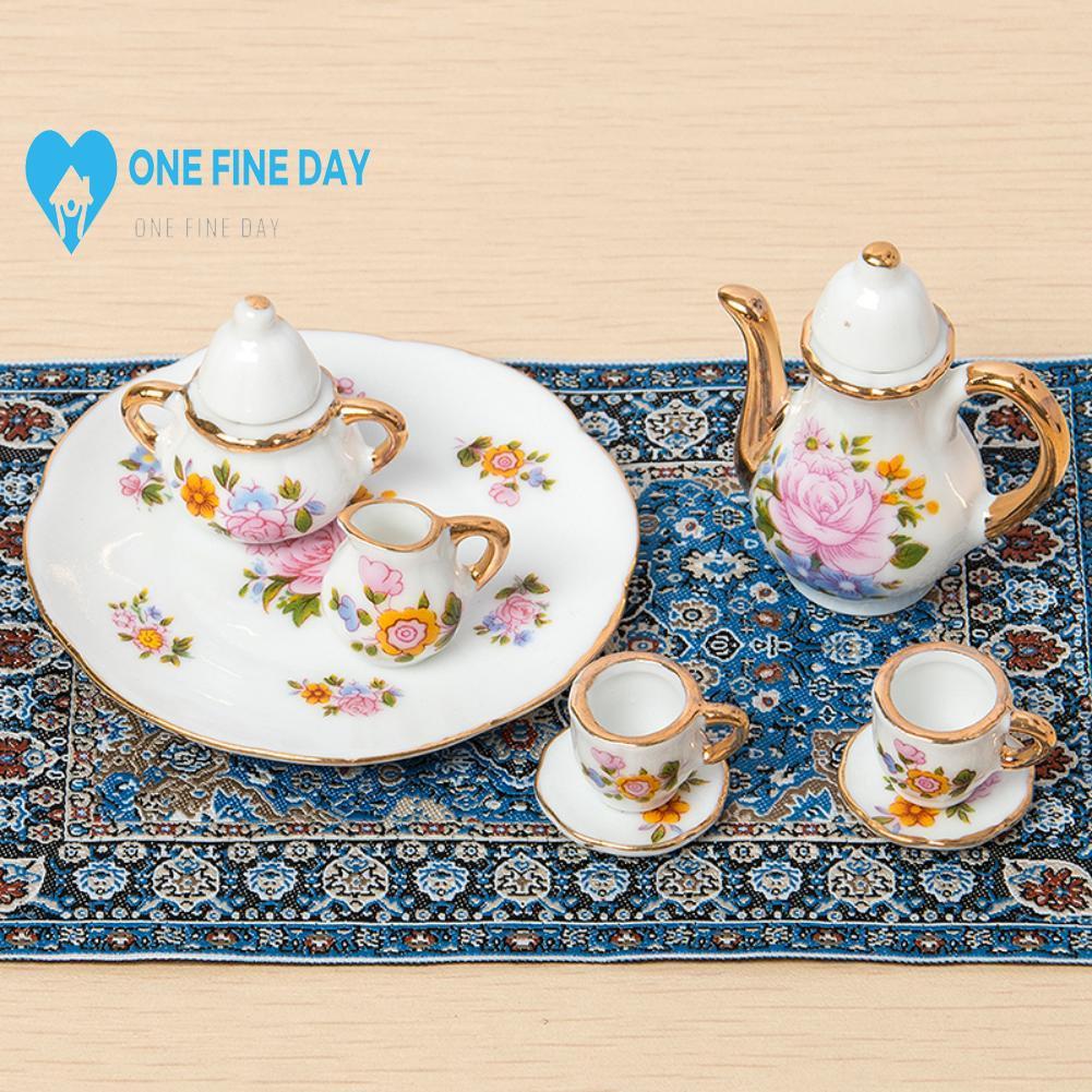 1:12 Dollhouse Mini Model Accessories Pure Woven Turkish Starry Carpet Night Imported Blue E3R1