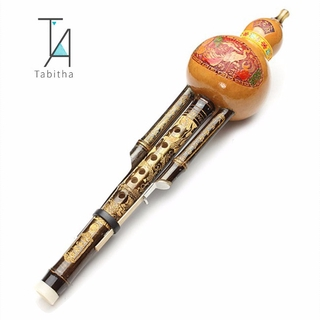 Chinese Handmade Hulusi Gourd Cucurbit Flute Ethnic Musical Instrument C Key Bb Tone for Beginner Music Lovers