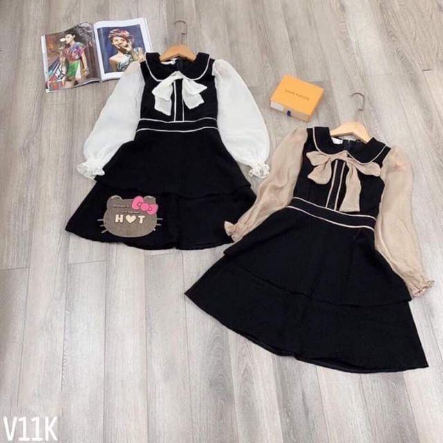 Váy umi tay lưới hai tầng siêu xinh đã cập bên rồiCác tình yêu nhe e vó 2 màu đen và be