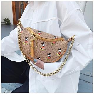 Túi bao tử chuột Mickey túi đeo ngực nữ thời trang có thể đeo chéo đeo vai SAWA hottrend hàng đẹp DBUNGMIC + hình thật