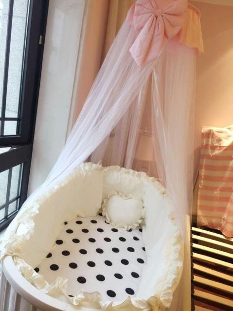 Quây cũi Cotton Hàn Quốc màu trơn cho bé và ga chun bọc đệm viền bèo MESOCKEM QT04