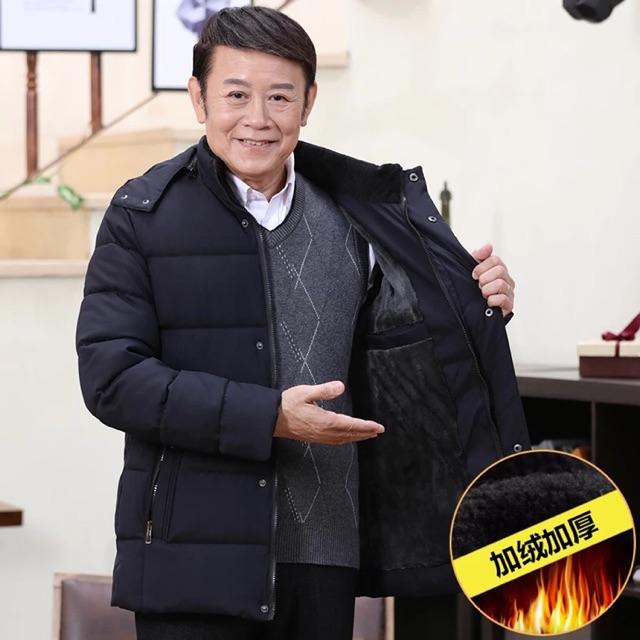 Áo khoác lót nỉ trung niên