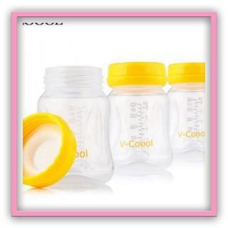 Bộ 3 bình trữ sữa FREE BPA Vcoool dung tích 150ml, hàng chính hãng