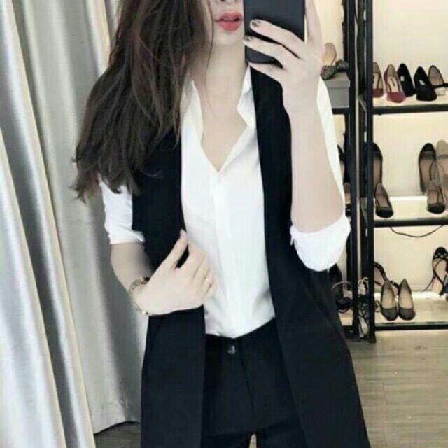 Áo vest gile vạt chéo