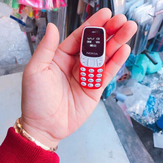 Điện thoại Mini-Nokia 3310 2 sim 2 sóng, Mini siêu nhỏ,Bh 12 tháng 1 đổi 1