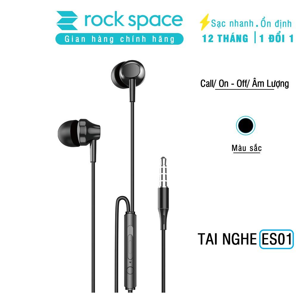Tai nghe có dây, có mic ES01 - Hàng chính hãng Rockspace bảo hành 12 tháng