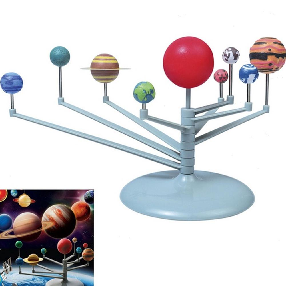DIY Toys Nine Planetary Models Puzzle Assemble The Solar System Planets Children'S Toy Sets