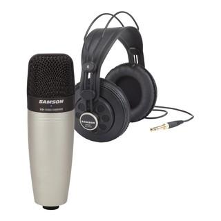 Bộ Microphone, tai nghe kiểm âm Samson C01-SR850