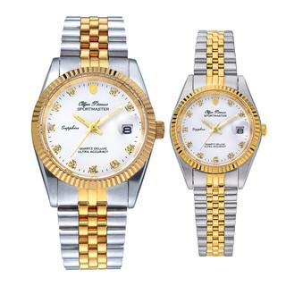 Đồng hồ đôi nam nữ dây kim loại Olym Pianus OP89322 MSK OP68322 LSK mặt trắng thumbnail