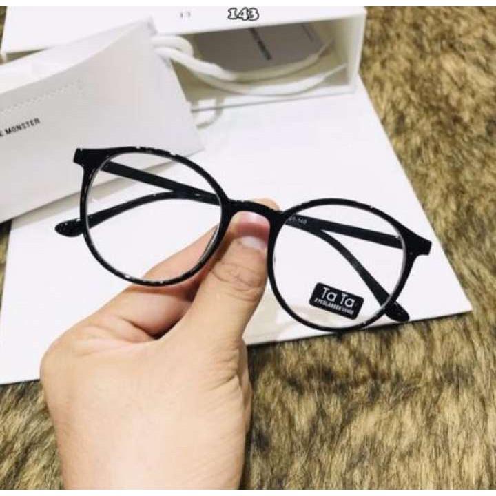 Gọng kính giả cận nam nữ cao cấp Hàn Quốc - Kính cận tròn không độ mẫu đẹp lạ TATA