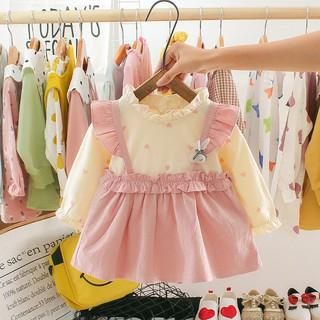 Váy thun thể thao kẻ co dãn có cổ cho bé gái BabyGap