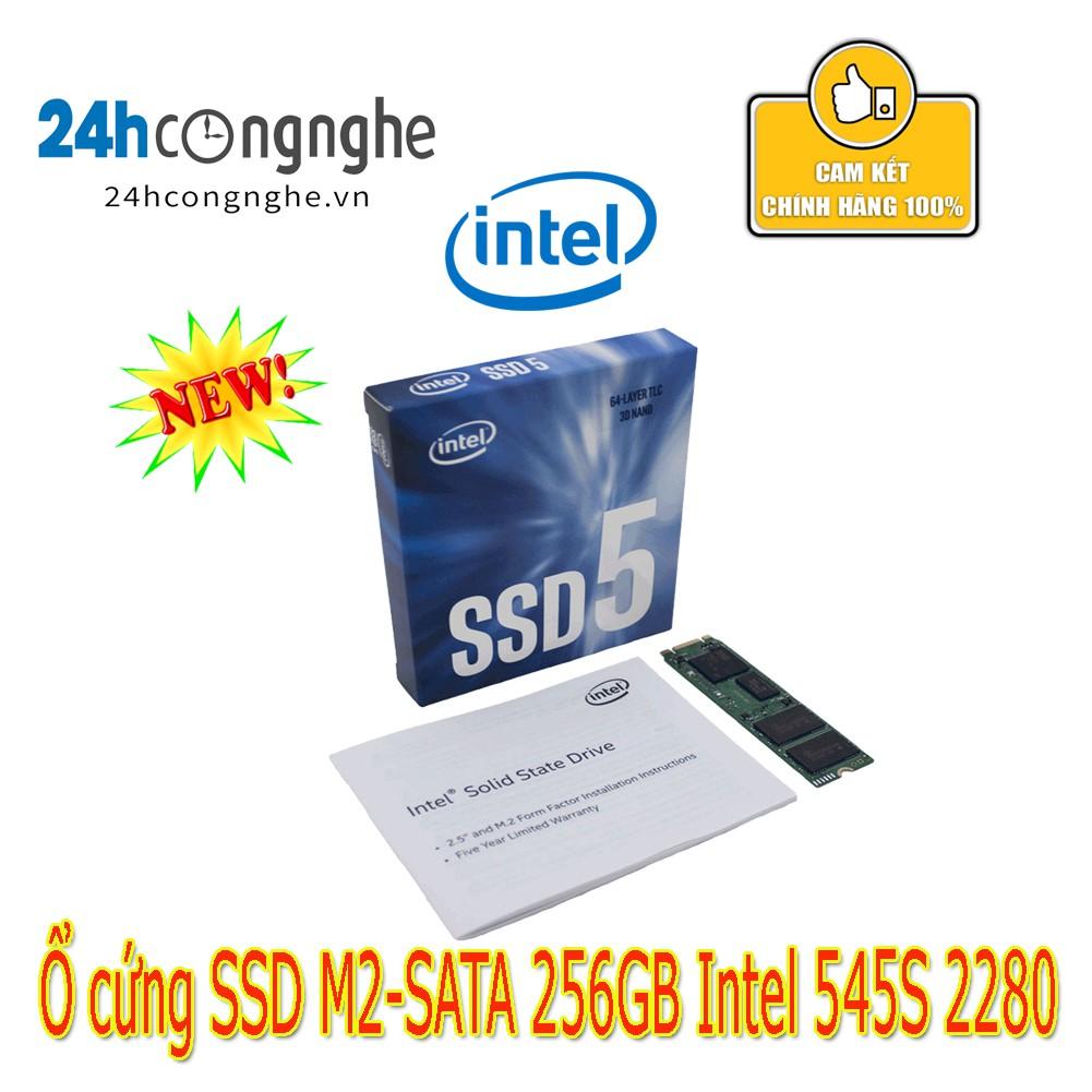 Ổ cứng SSD M2-SATA 256GB Intel 545s 2280 Giá chỉ 1.389.000₫