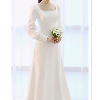 Váy cưới đơn giản, đầm dạ hội, đầm tiệc trắng thumbnail