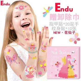 Bộ sticker 100 mẫu Tatoo và 200 mẫu Nail cho bé