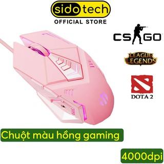Chuột Máy Tính Màu Hồng Gaming SIDOTECH W5P Tắt Âm Silent Chơi Game Cho Streamer 4000 DPI Siêu Nhạy - Hàng Chính Hãng thumbnail