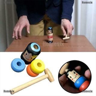 [YHMSI] A Little Small Wooden Unbreakable Man Puppet Novelty Funny Toy Creative Gift TYU