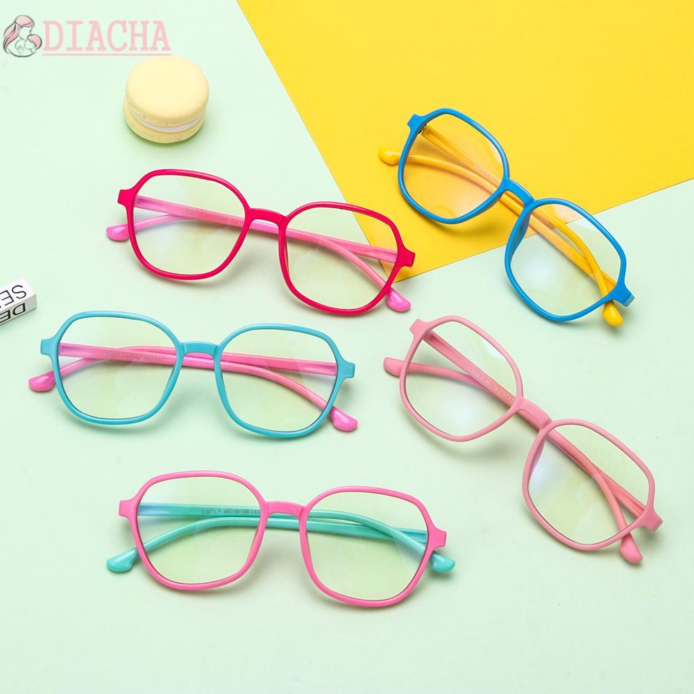 DIACHA Age 3-10 Blue Light Blocking Glasses Silicone Frame TV Phone Glasses Blue Light Glasses for Kids Anti-eyestrain UV400 Protection...