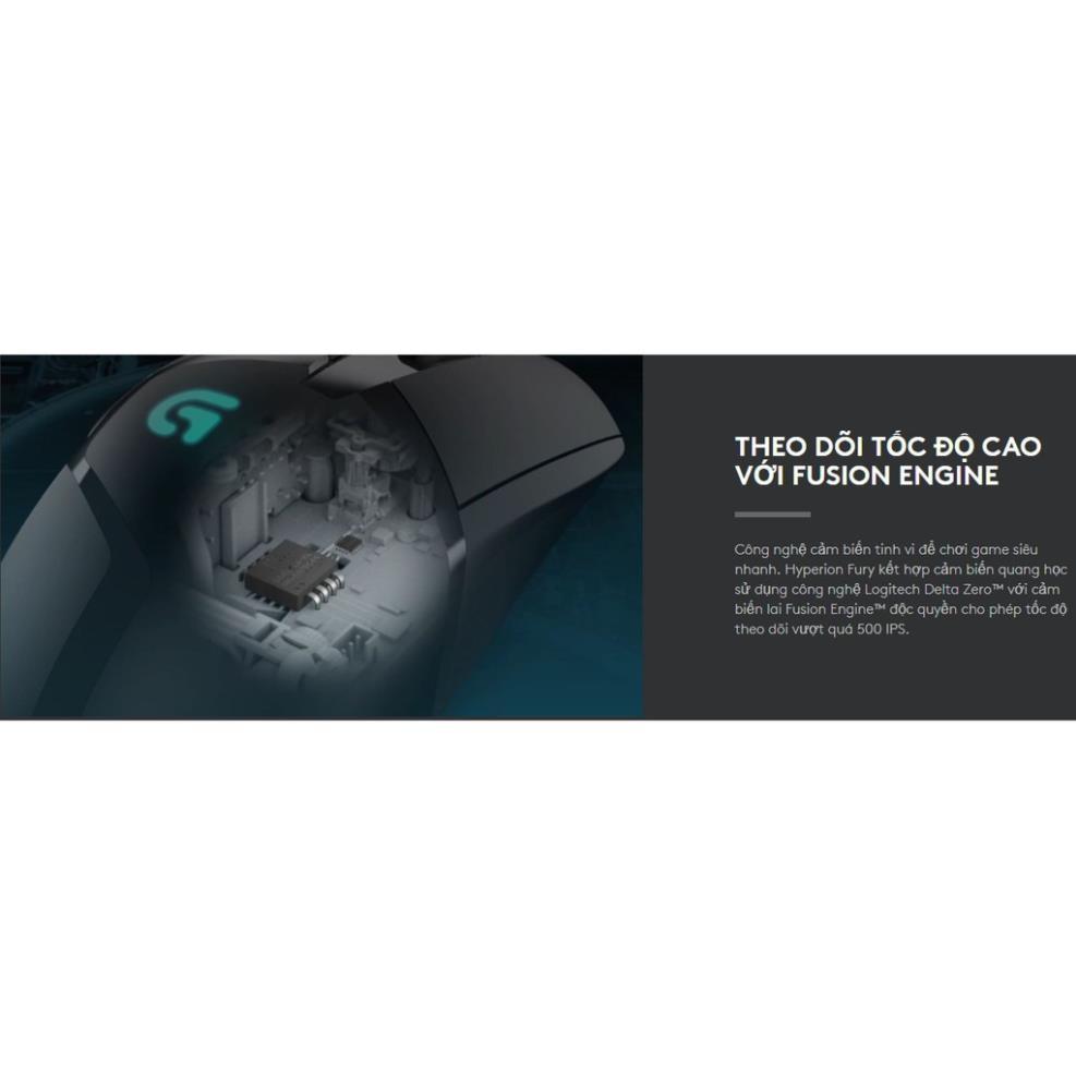 [Mã ELMALL300K giảm 5% đơn 500K] Chuột Logitech G402 Gaming HYPERION FURY FPS 4.9 - Bảo hành 2 năm chính hãng