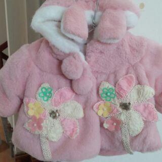 Áo choàng lông cho bé, áo lông thỏ cho bé, áo khoác lông cho bé, áo lông cho bé gái