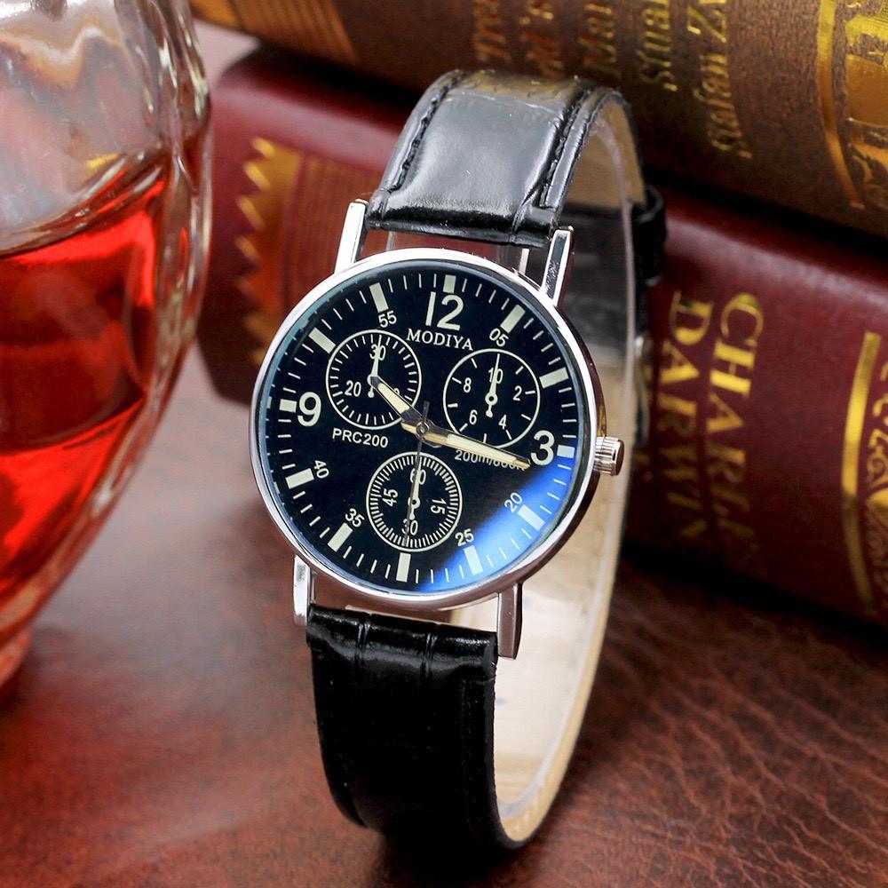 Đồng hồ nam thời trang cao cấp dây da Modiya DH97 hothit