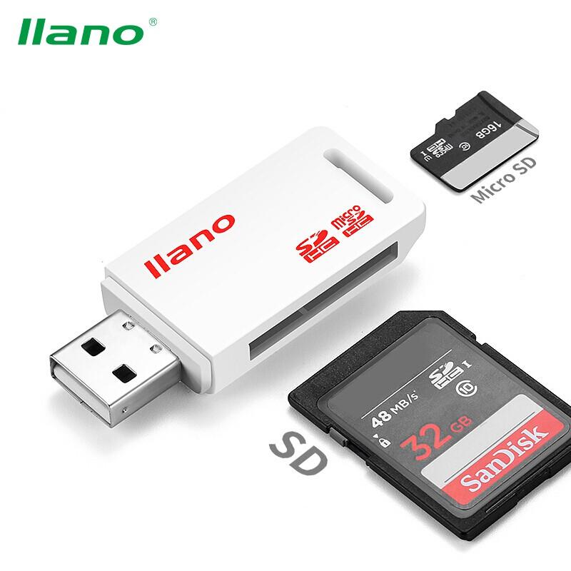 Đầu đọc thẻ TF/SD llano 2 trong 1 cổng Micro USB
