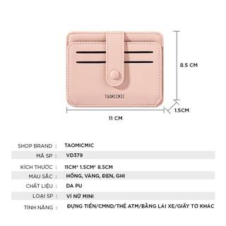Hình ảnh Ví nữ mini TAOMICMIC dễ thương ngắn cầm tay nhiều ngăn nhỏ gọn bỏ túi thời trang cao cấp VD379-1