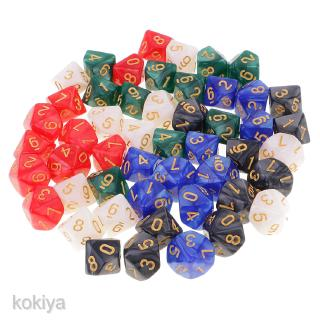 D10 Dice 16mm 10 Sided Die Polyhedral Set w/ Dice Carry Bag for Board Games