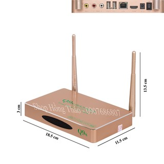Đầu Android Tivi Box Q9s - 02 Anten chuẩn - 1GB RAM
