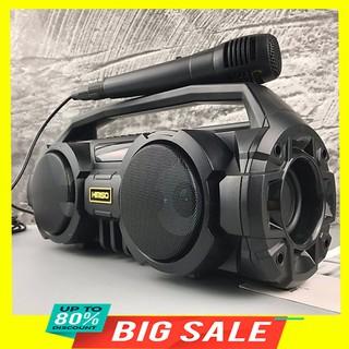 Loa Bluetooth Karaoke Kimiso S1 (Đen) Tặng Kèm 1 Mic Hát Có Dây Cắm Trực Tiếp, Siêu Bass Không Dây, Đèn Led Sống Động