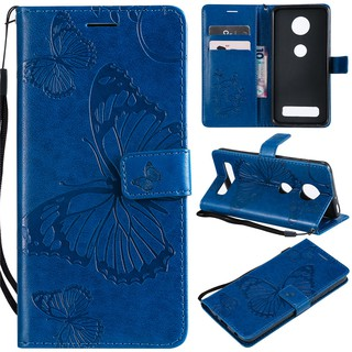 Case for Motorola Moto Z3 Play/Z4 Play Butterfly leather phone