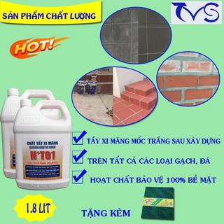 Yêu ThíchChất tẩy xi măng HT01 can 1.8 lit, tẩy ron gạch loại mạnh nhất