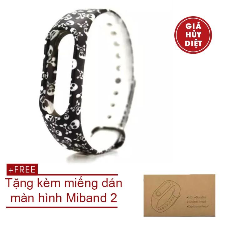 Vòng đeo tay thay thế miband 2 tặng kèm miếng dán màn hình
