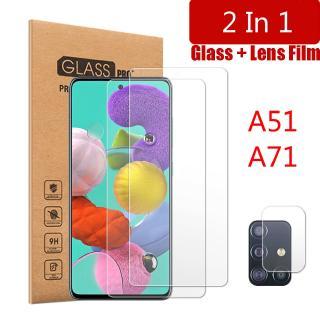 Kính Cường Lực 9h 2 Trong 1 Bảo Vệ Camera Cho Samsung Galaxy A51 A71