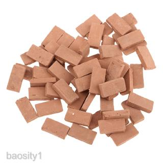 1/35 Simulation Porcelain Red Brick Model Toy 1.1×0.6cm for Diorama Scenery