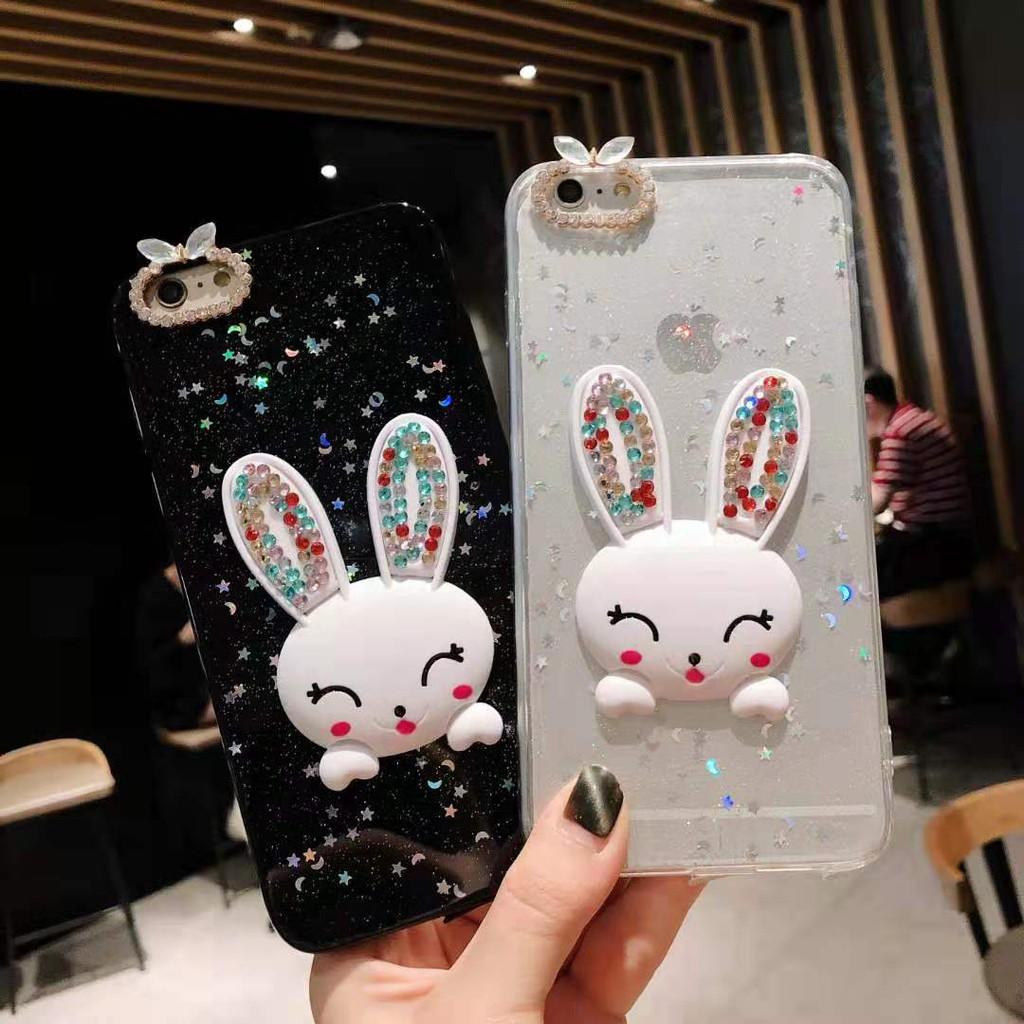 Ốp điện thoại TPU hình thỏ siêu dễ thương cho Huawei P20 P20pro Nova3i Nova3E Nova3