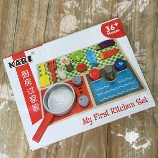 Đồ chơi gỗ nấu ăn, đồ chơi nhà bếp cho bé