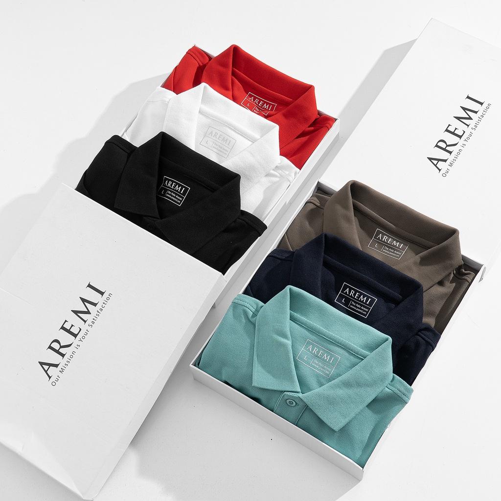 Áo thun Polo nam cổ trụ chất liệu, vải cá mập CVC  6 màu trẻ trung  đơn giản ,phong cách hiên đại AREMI 2021