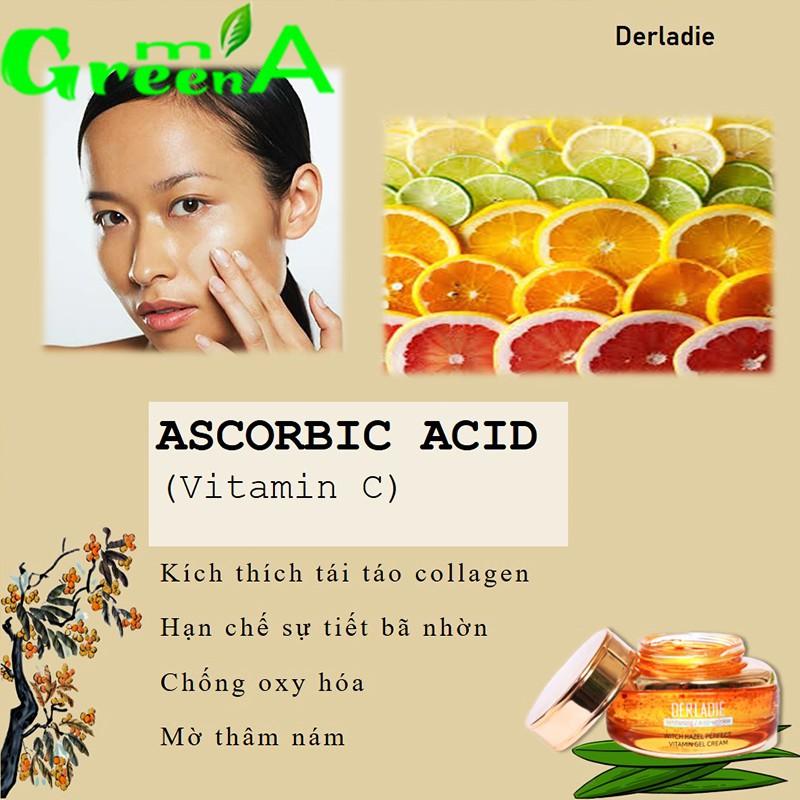 Kem Derladie Witch Hazel Perfect Vitamin Gel Cream 55ml làm mờ sẹo, giảm thâm, chống lão hóa Chính Hãng Nhập Khẩu