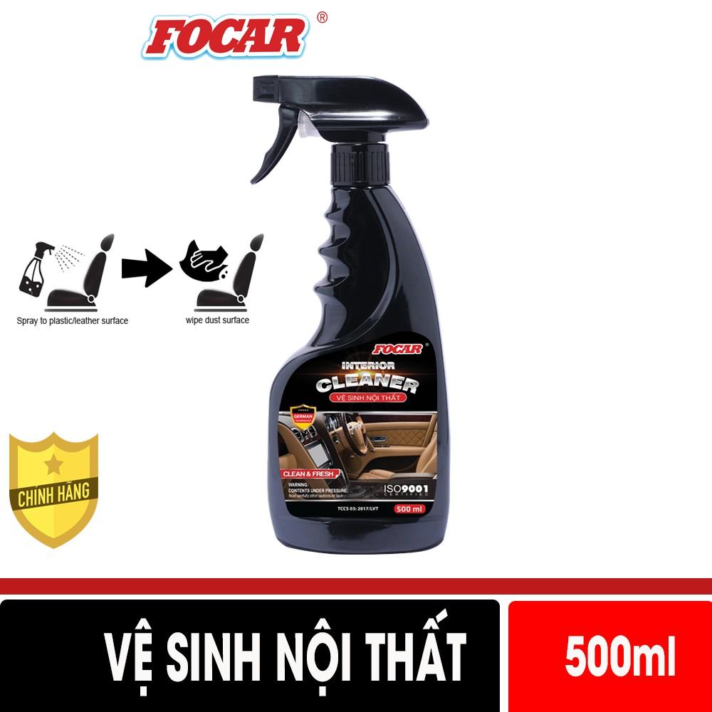 Dung dịch vệ sinh nội thất FOCAR Interior Cleaner 500ml Vệ sinh ghế da, ghế nỉ, vệ sinh cửa xe, trần nỉ