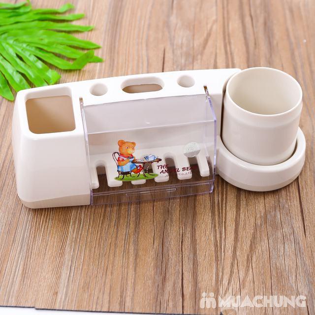 Giá cắm bàn chải, kem đánh răng có cốc